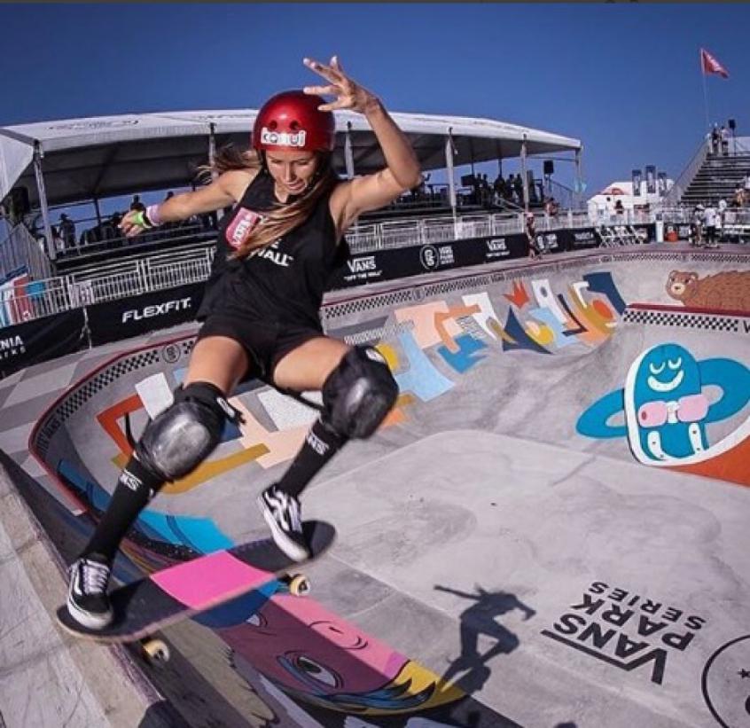 Dora Varella se destaca em primeiro lugar noVans Park Series Continental (Foto: Reprodução / Instagram)