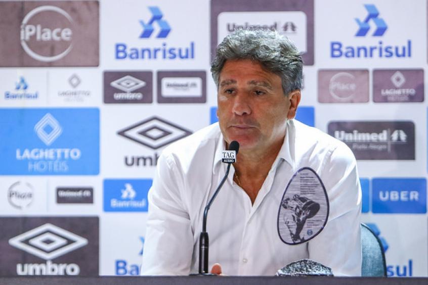 Renato Gaúcho é personagem identificado com os dois clubes (LUCAS UEBEL/GRÊMIO)