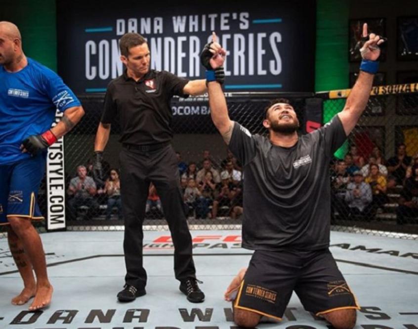 Sakai participou do Contender Series , ganhou o contrato com o UFC e a chance de lutar no UFC São Paulo (Foto: UFC)