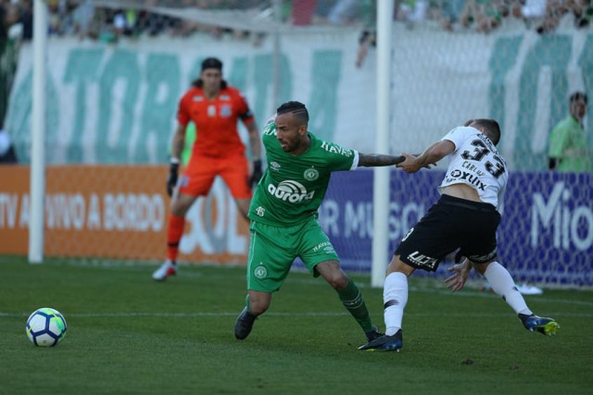 Autor do único gol da Chapecoense no confronto com o Vasco, Leandro Pereira projeta recuperação diante do Palmeiras (Foto: Sirli Freitas/Chapecoense)