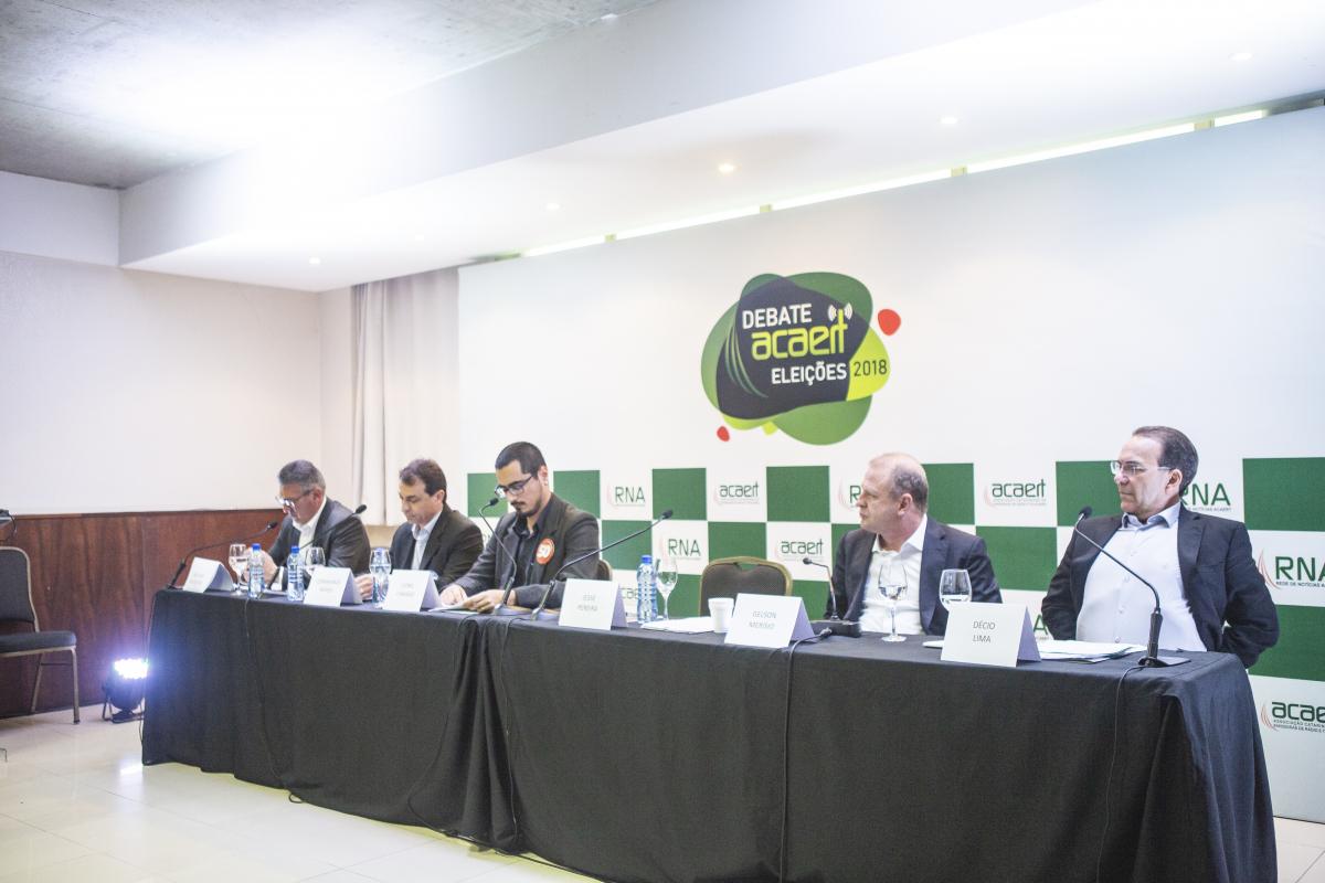 Debate Acaert candidatos ao governo de SC - Daniel Queiroz/ND