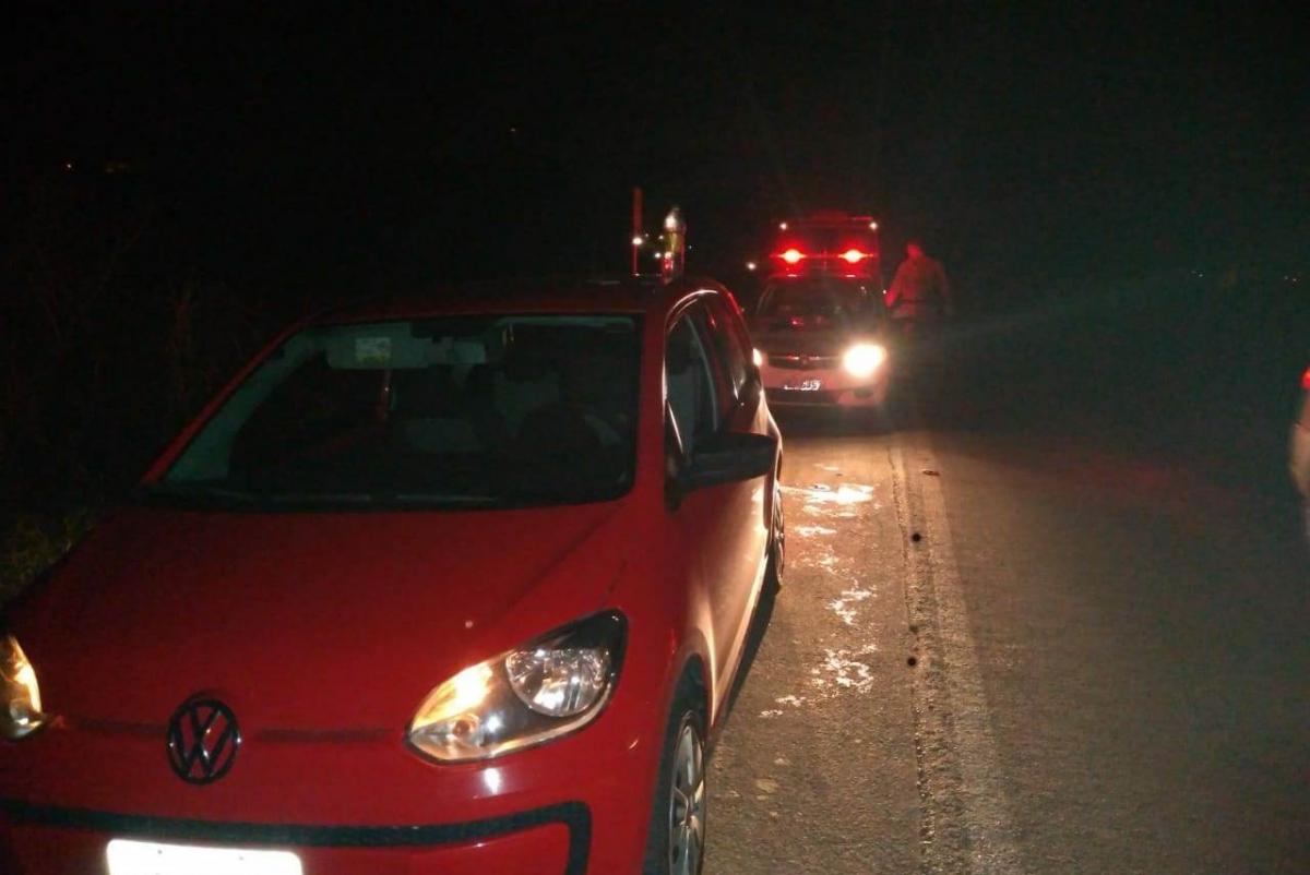 Policiais localizaram Volkswagen Up em que estavam os criminosos - Polícia Militar/ND