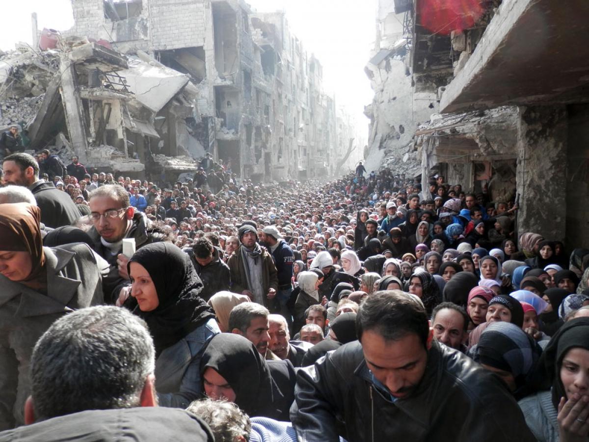 Trabalho está sendo realizado no estado de Yarmuk, um campo de refugiados palestinos localizado no sul na capital, Damasco - UNRWA