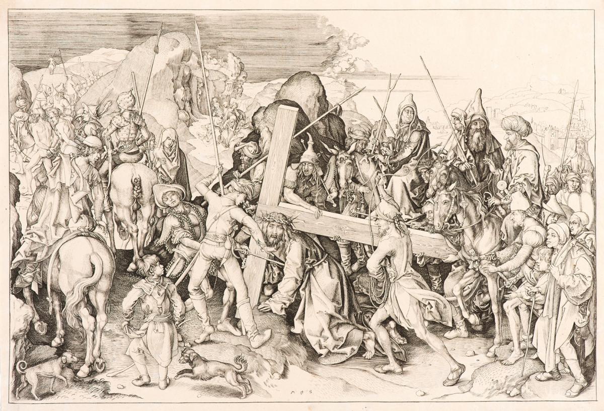 """""""Cristo Carregando Cruz"""", de Martin Schongauer, a mais antiga da mostra - Iara Venanzi/Itaú Cultural/Divulgação/ND"""