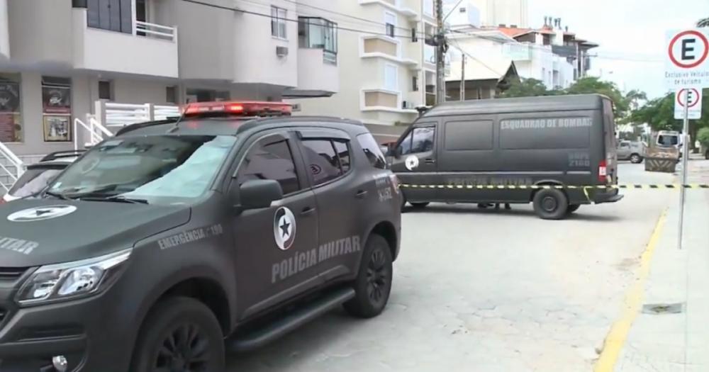 Bope detonou artefato após isolar área em Canasvieiras - RICTV/Divulgação