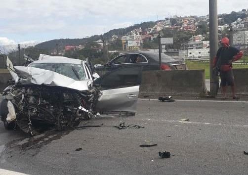 Acidente aconteceu no início da tarde desta quarta-feira - Pista Limpa/Divulgação
