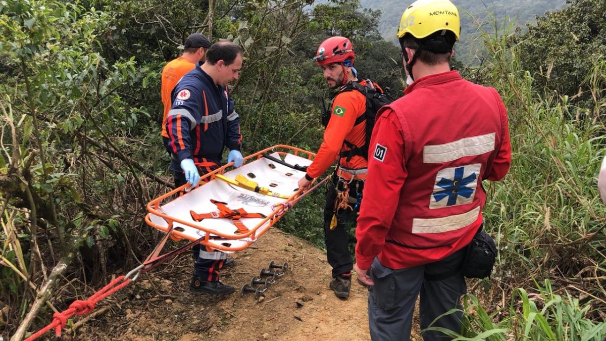 Grupo Especializado de Resgate em Montanha também participou da simulação nesta sexta-feira - CCP-SAMU/Divulgação/ND