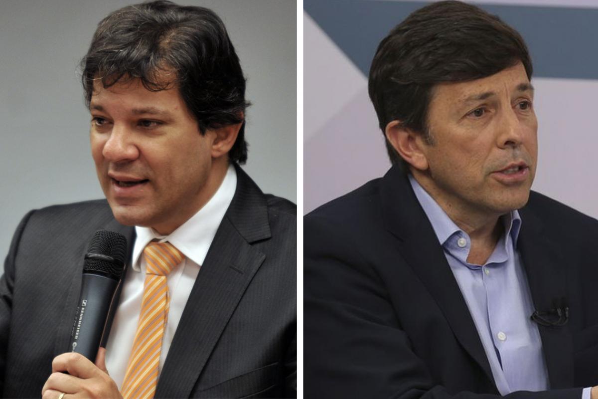 Haddad e Amoêdo - Antonio Cruz/Marcello Casal Jr./Agência Brasil