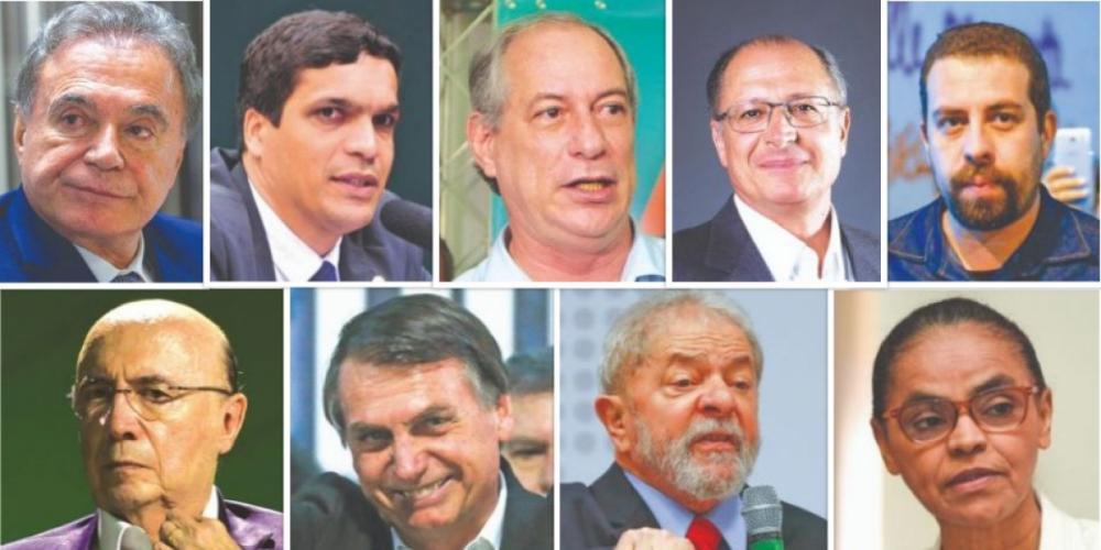 Presidenciáveis das Eleições de 2018 - Divulgação/ND