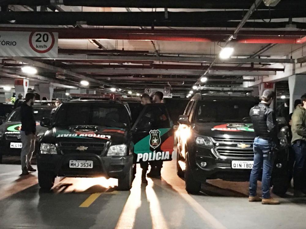 Operação policial cumpriu mais de 50 mandados judiciais em Blumenau - Polícia Civil/Divulgação/ND