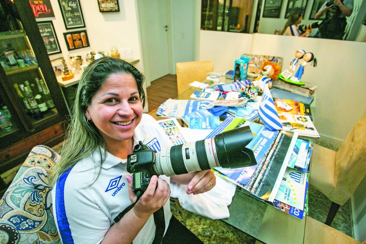 Jamira Furlani registra a história do Avaí pelas suas lentes há dez anos - Daniel Queiroz