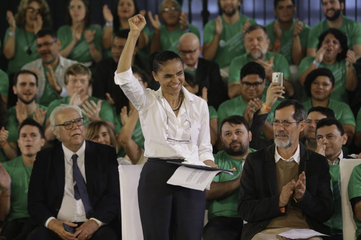 Candidatura de Marina Silva foi confirmada neste sábado, na primeira Convenção Nacional da Rede Sustentabilidade - Fabio Rodrigues Pozzebom/Ag Brasil