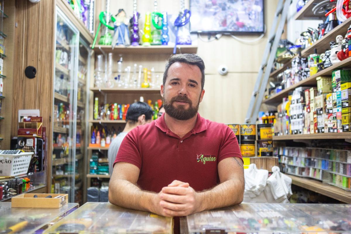 Alexandre Aguiar coordena as reuniões com os comerciantes - Daniel Queiroz/ND
