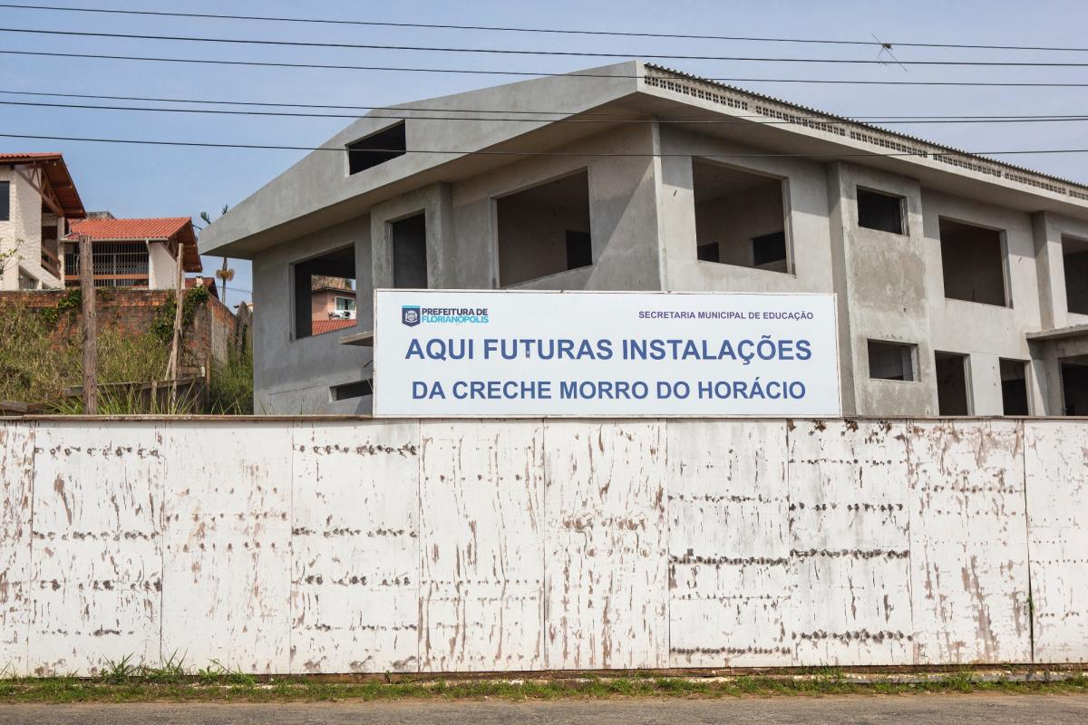 Projeto da creche do Morro do Horácio teve que ser alterado, por isso a obra só será concluída em dezembro de 2019 - Daniel Queiroz/ND