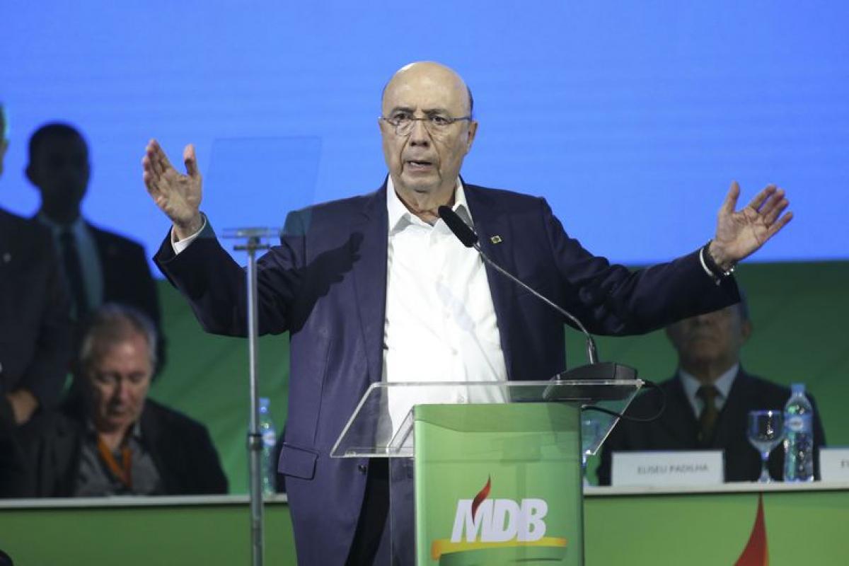 Convenção Nacional do MDB confirmou candidatura de Henrique Meirelles - Antonio Cruz/Agência Brasil