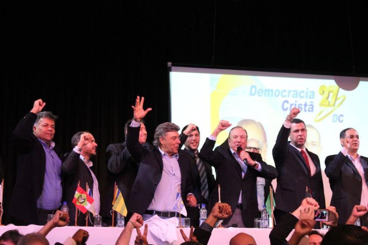 Convenção Nacionald do DC lançou Eymael como seu nome para a disputa pela Presidência da República - Bruno Murashima/DC/Divulgação