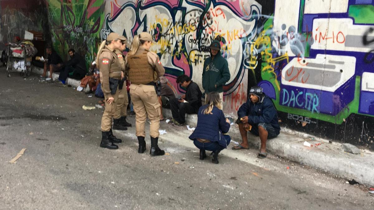19 moradores de rua foram abordados, porém nenhum aceitou ajuda - PMF Divulgação/ND