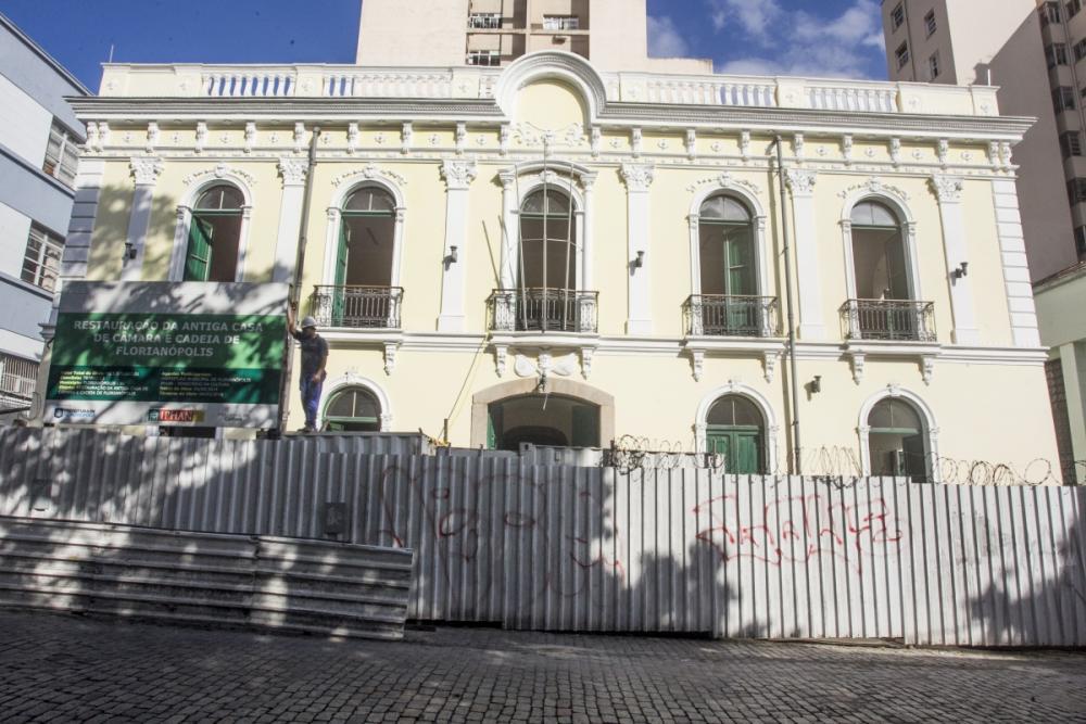 Em ritmo lento, obras da Casa de Câmara e Cadeia têm prazo de mais 60 dias. Local abrigará o Museu da Cidade - Marco Santiago/ND