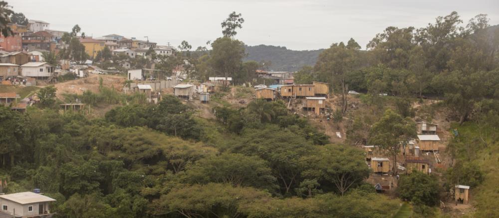No Alto da Caieira, construções irregulares em área de mata nativa - Flávio Tin/ND