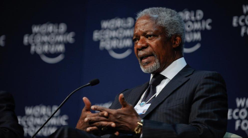 Kofi Annan foi o primeiro negro a comandar a ONU. - Photo Matthew Jordaan/Fotos Públicas/Divulgação/ND