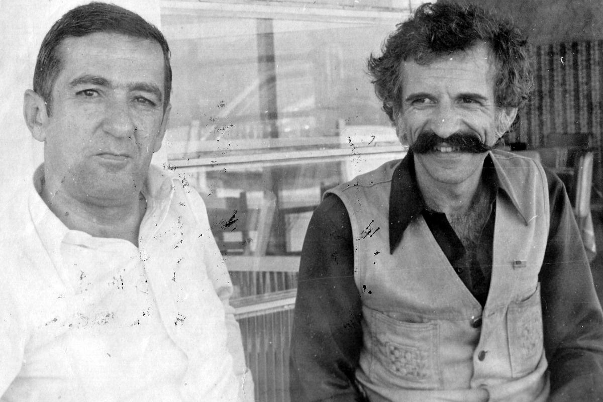 Zininho e Luiz Henrique Rosa, dois ícones da música florianopolitana. Em 2018 completam-e 20 anos da morte do autor do Rancho do Amor à Ilha – Foto: Acervo Carlos Damião