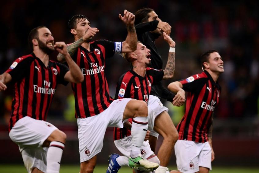 Milan conseguiu sua primeira vitória no Calcio (Foto: AFP)