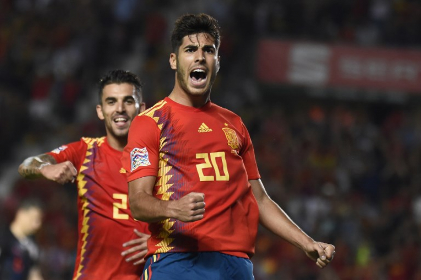 Asensio foi um dos destaque da Espanha na goleada sobre a Croácia (AFP)