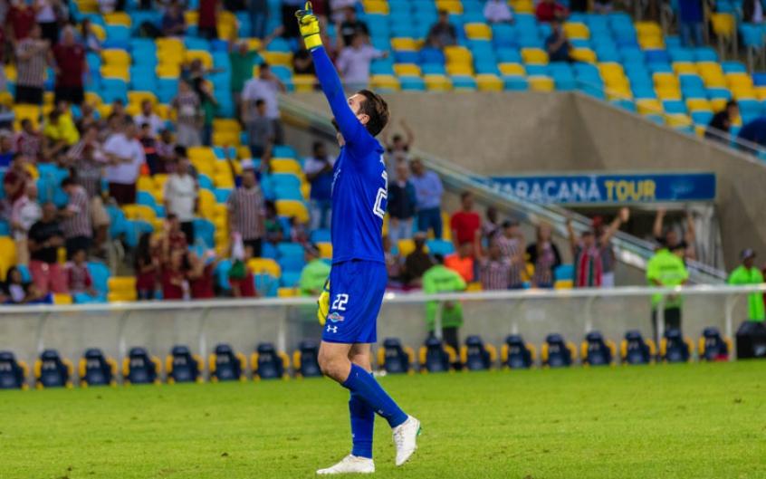 Júlio César atuou no primeiro tempo contra o Botafogo (Foto: Magalhaes Jr / Photopress)
