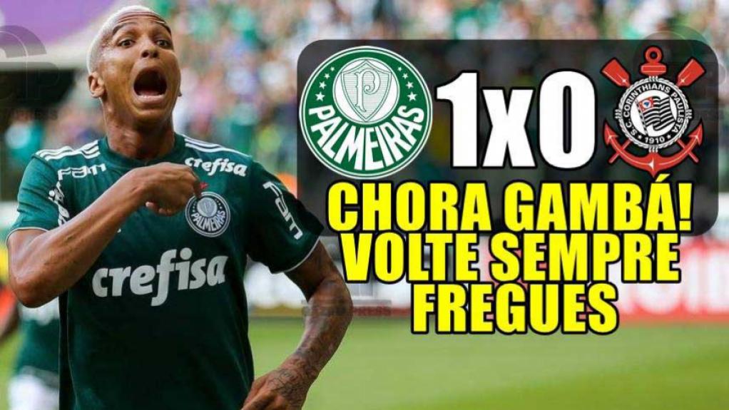 Os melhores memes da vitória do Palmeiras diante do Corinthians  -  Reprodução