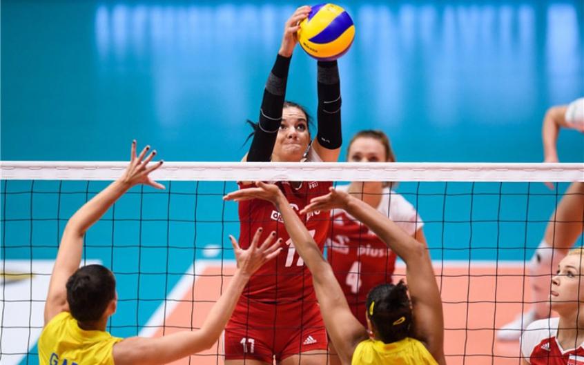 Brasil perdeu para a Polônia no Torneio de Montreux (Foto: Divulgação/FIVB)