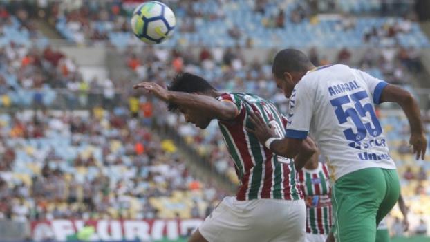 No primeiro turno, o Fluminense venceu a Chapecoense pela primeira vez na história, por 3 a 1 no Maracanã  -  Reginaldo Pimenta / Raw Image