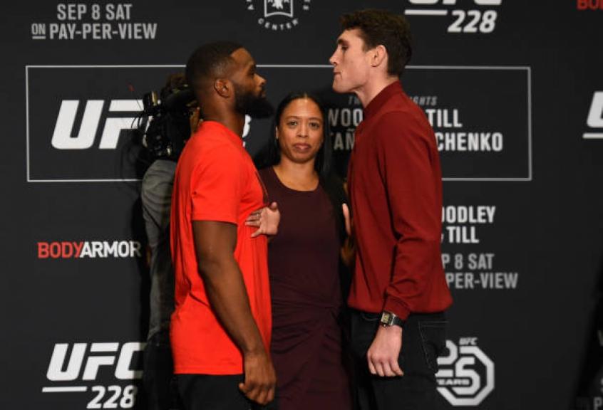 Darren Till e Tyron Woodley fazem o main event do UFC 228, neste sábado (8), em Dallas (EUA) (Foto: Getty Images)