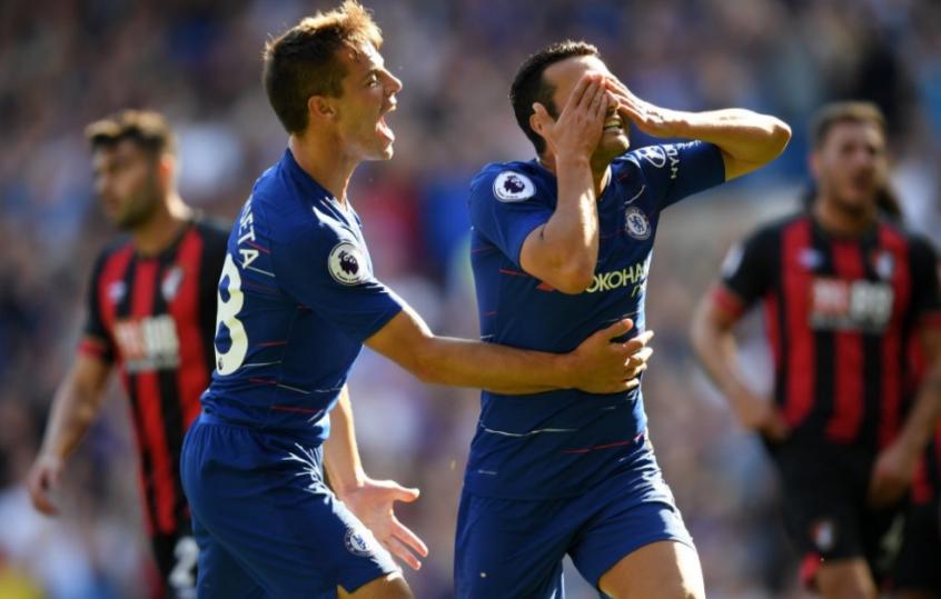 Pedro marcou o primeiro gol da partida (Foto: AFP)