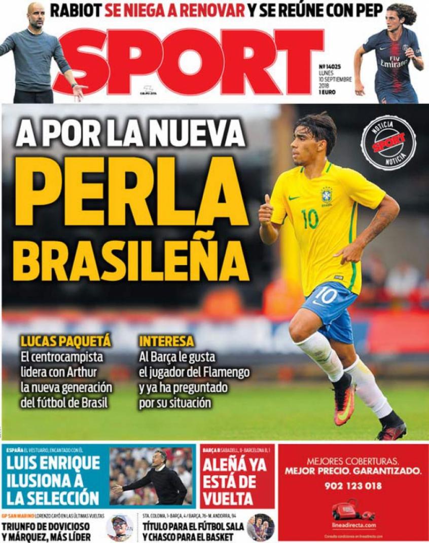 Jornal espanhol traz a informação que o Barcelona estaria de olho no brasileiro (Reprodução)