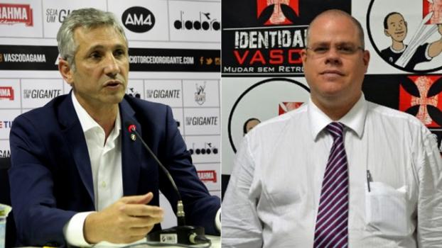 Alexandre Campello e Roberto Monteiro, presidentes do Vasco e do Deliberativo, respectivamente. Veja galeria L!  -  Paulo Fernandes e Divulgação