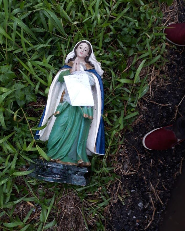 Santa estava jogada na rua e encontrada por um morador - Divulgação, ND