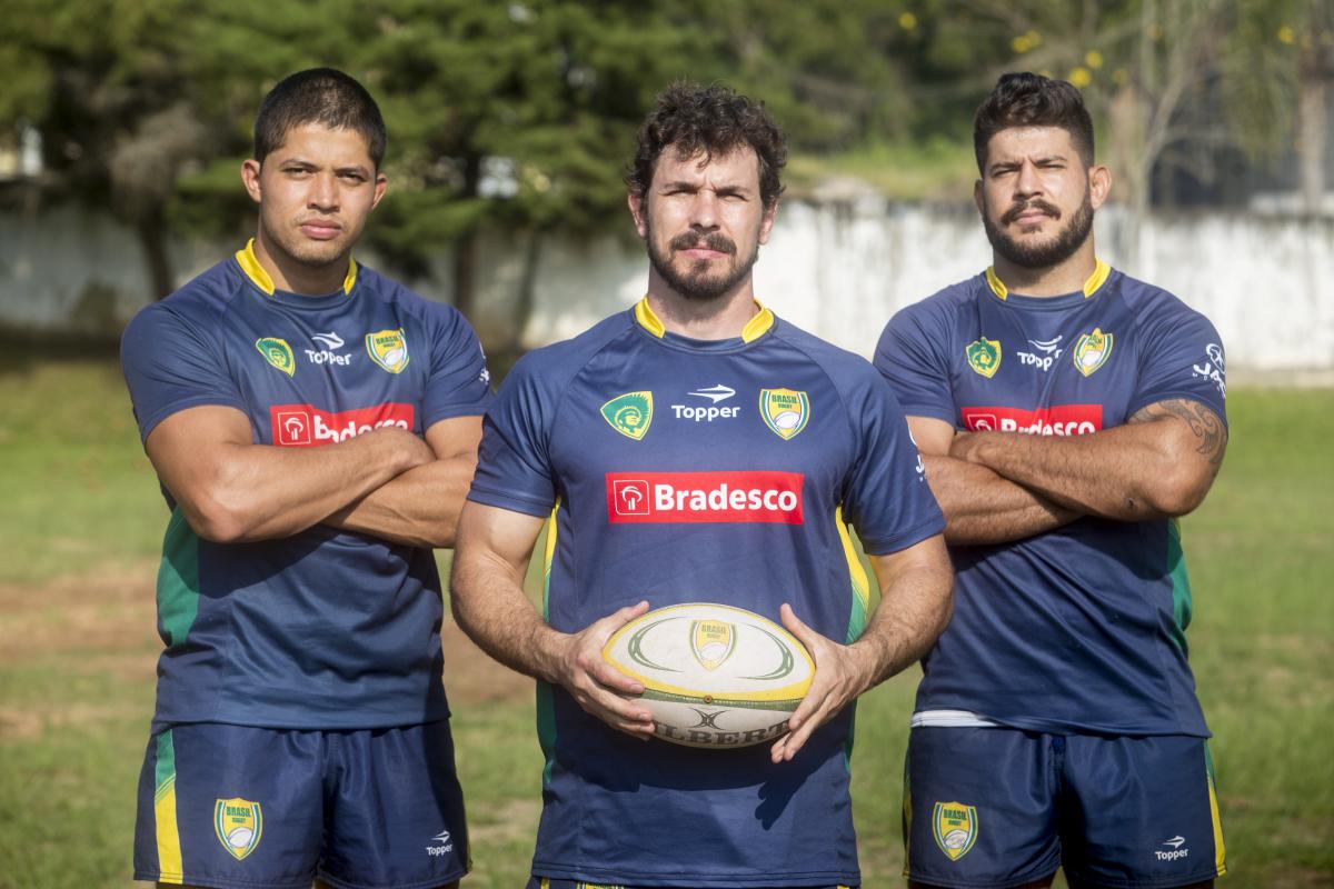 Seleção do Brasil de rúgbi representado com três atletas do Desterro, de Florianópolis - Flávio Tin/ND