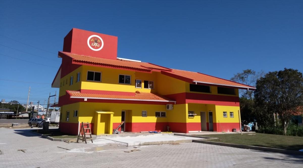 Nova unidade do Corpo de Bombeiros fica localizada às margens da SC-405, no Rio Tavares - PMF/Divulgação/ND