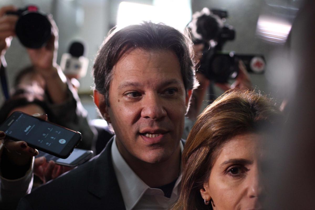 Fernando Haddad foi oficializado como candidato do PT à Presidência da República -  Serviço Noticioso / Futura Press