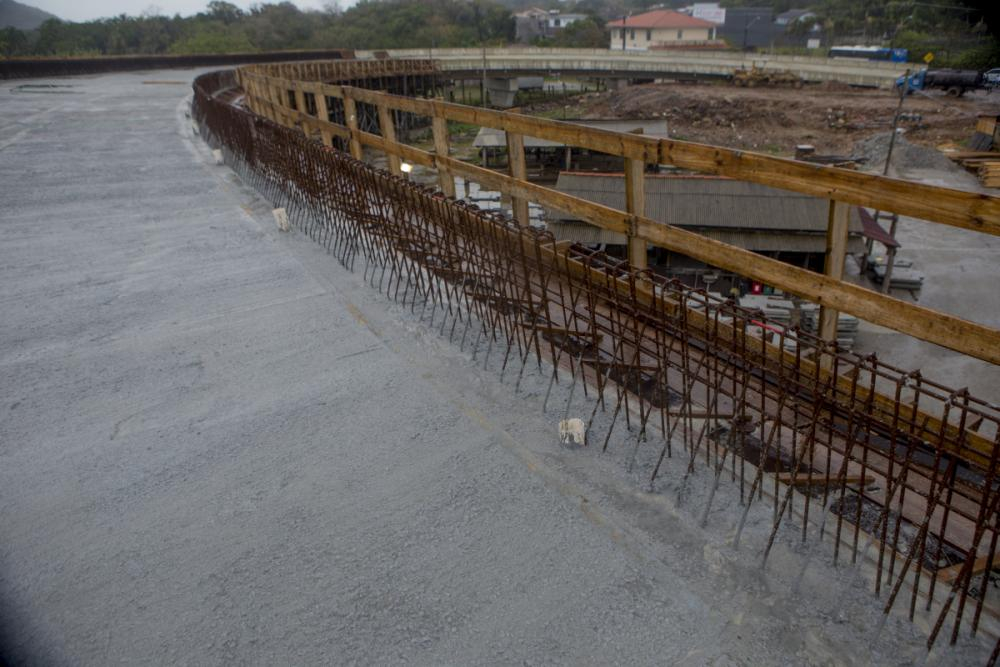 Obras do elevado do Rio Tavares chegaram a 47% - Foto Flávio Tin/ND