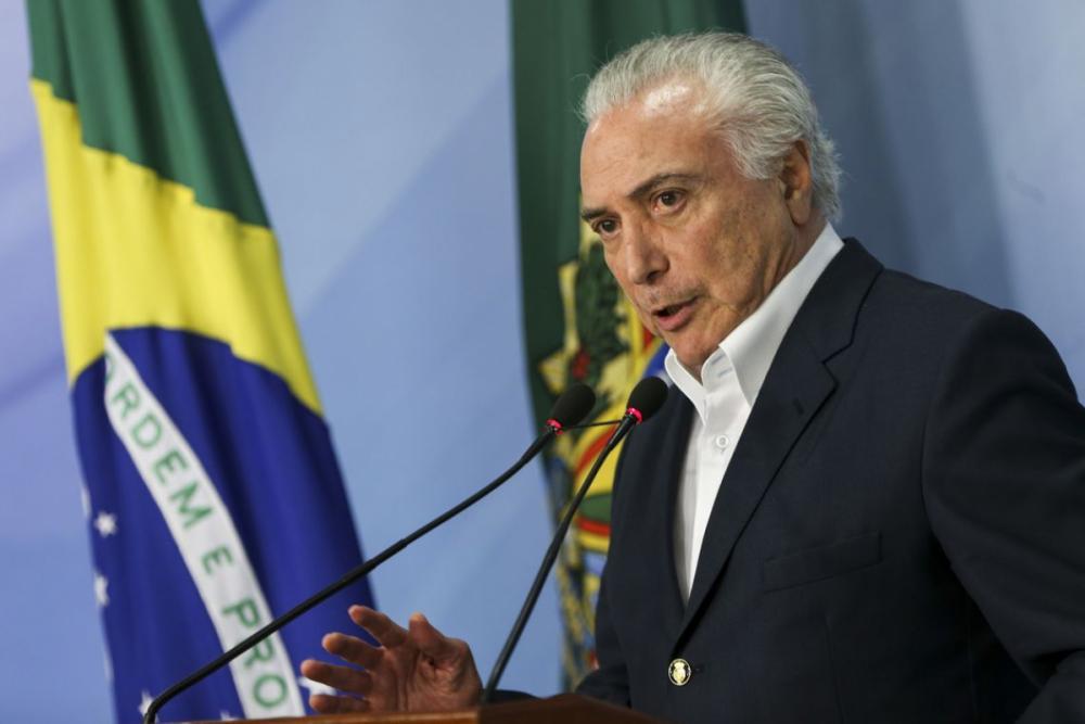 Presidente Michel Temer anuncia redução no preço do óleo diesel, na noite de domingo - Marcelo Camargo/Agência Brasil