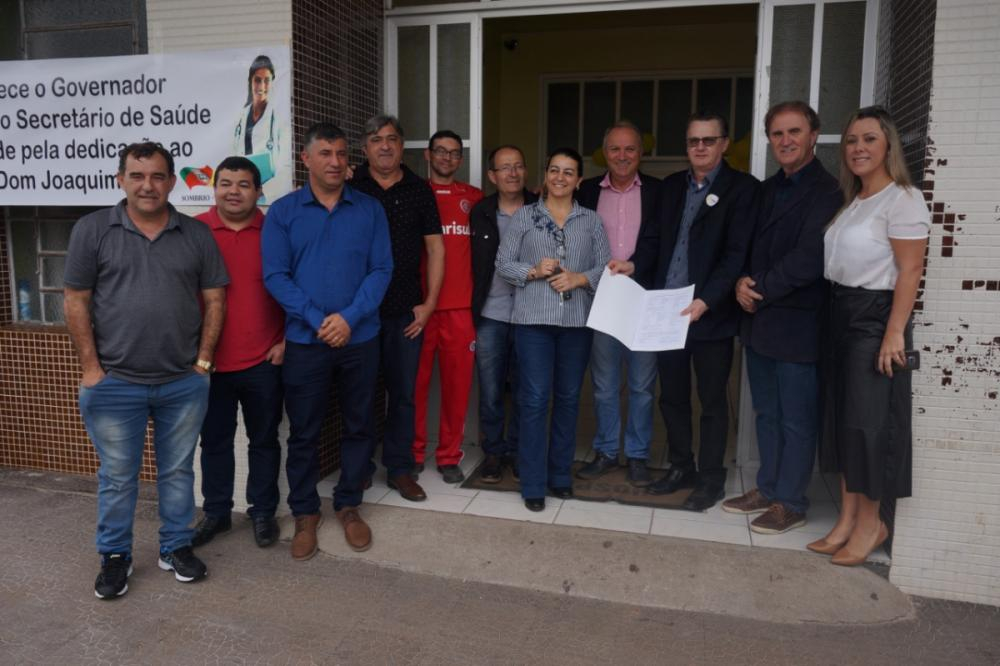 Secretário estadual da Saúde Acélio Casagrande assinou convênios em Sombrio - Foto: Divulgação/ND