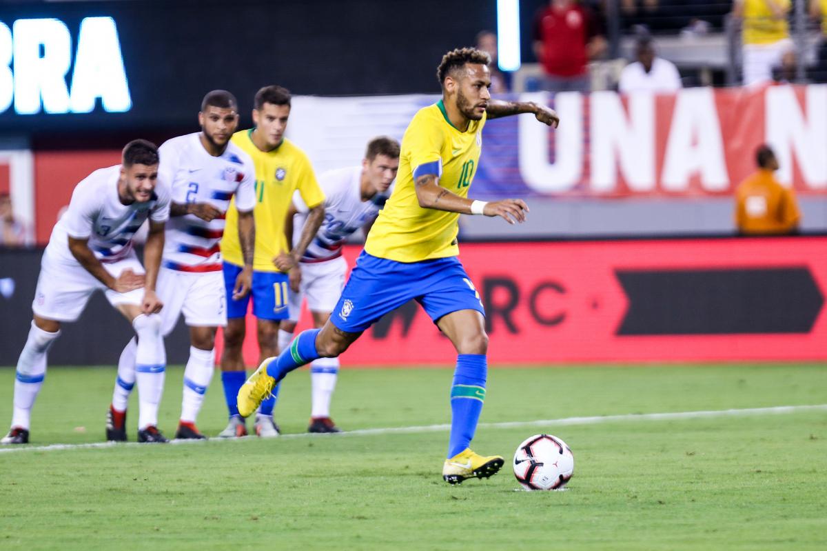 Neymar durante partida contra os Estados Unidos, no Estádio MetLife - Brazil Photo Press/Folhapress/Divulgação/ND