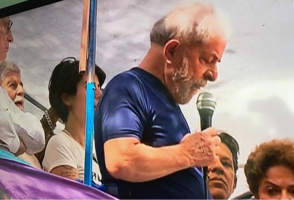 Lula em discurso de 7 de abril - Divulgação/ND
