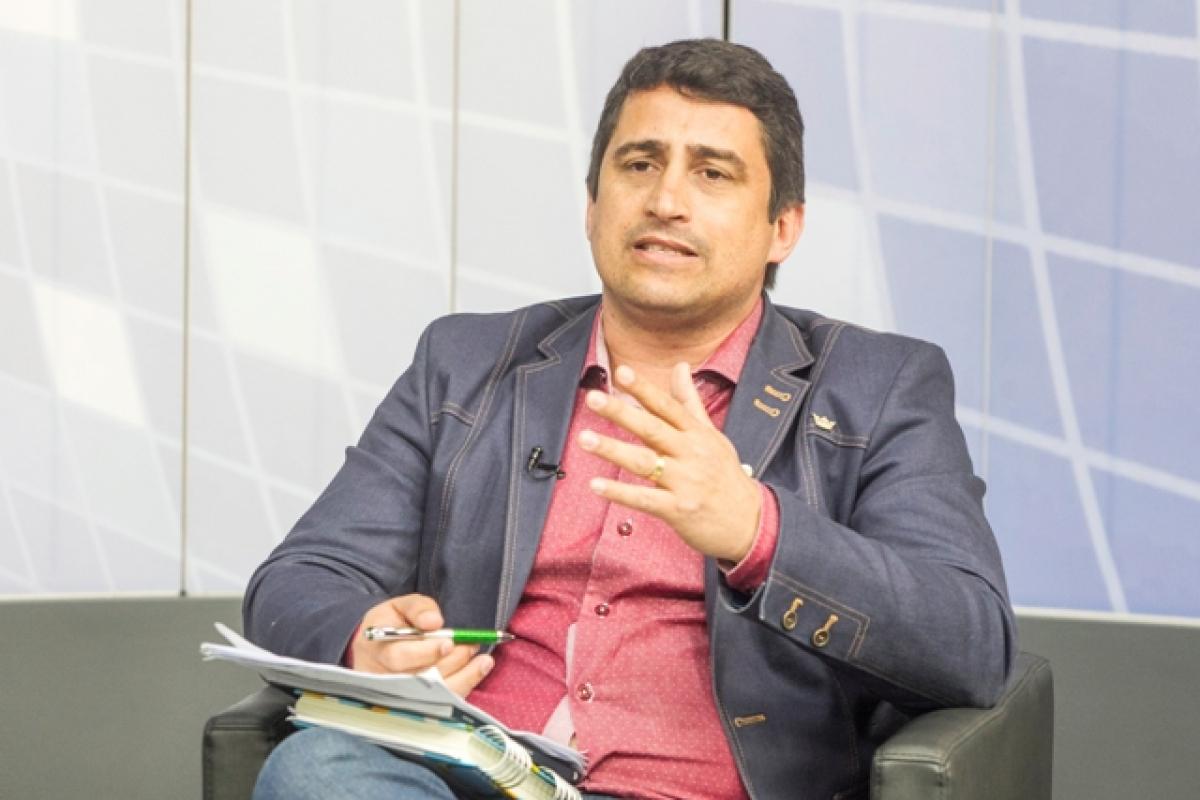 Jessé Pereira, do partido Patriota, na Record News - Marco Santiago