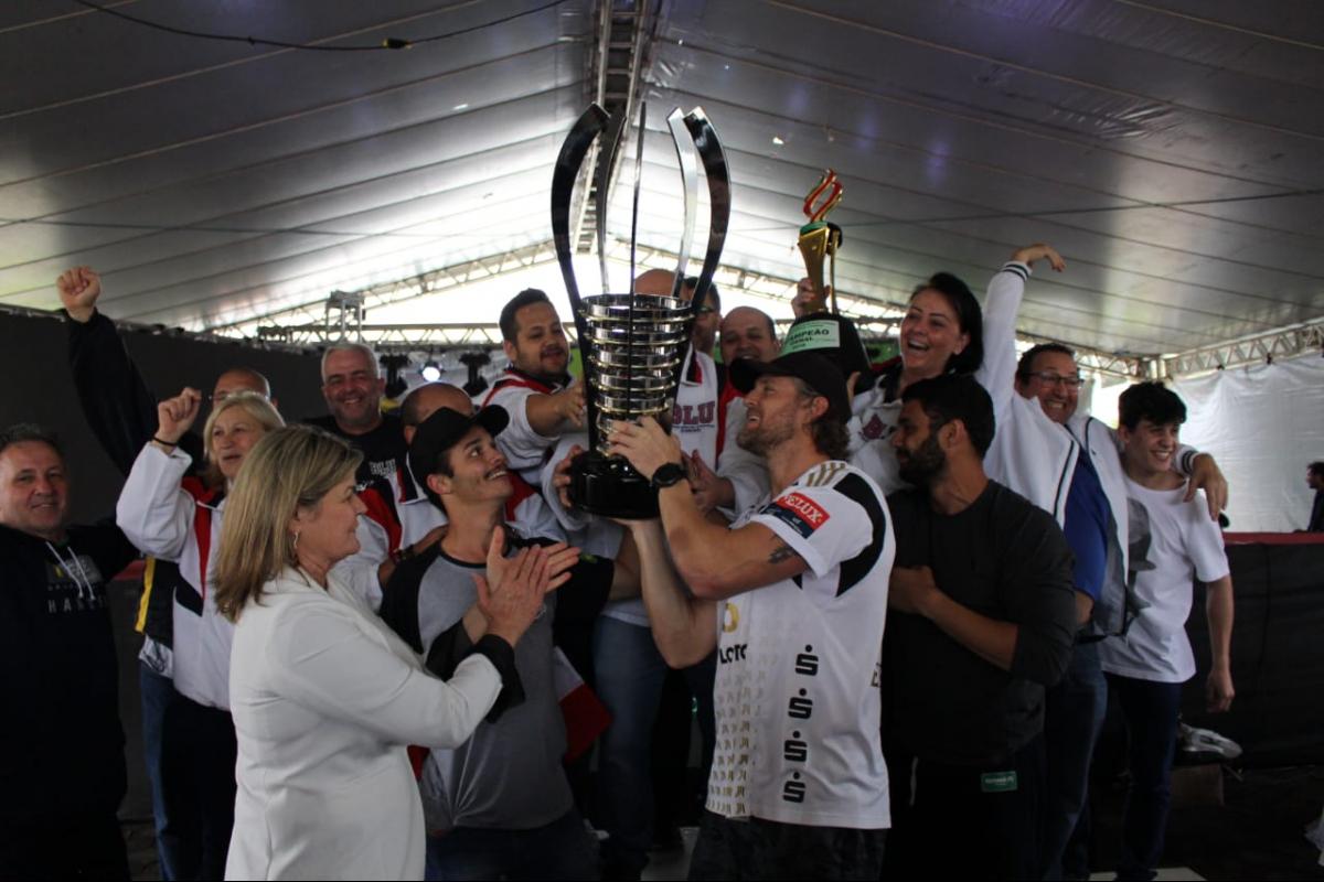 Encerramento do Jasc com o campeão Blumenau - Divulgação/ND