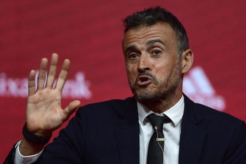 Luis Enrique é o técnico da Espanha (Foto: Pierre-Philippe Marcou / AFP)