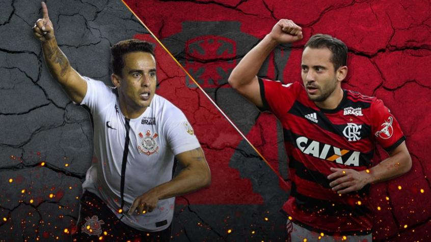 Corinthians e Flamengo farão o primeiro duelo da semifinal da Copa do Brasil na próxima quarta-feira - Montagem: Lance!