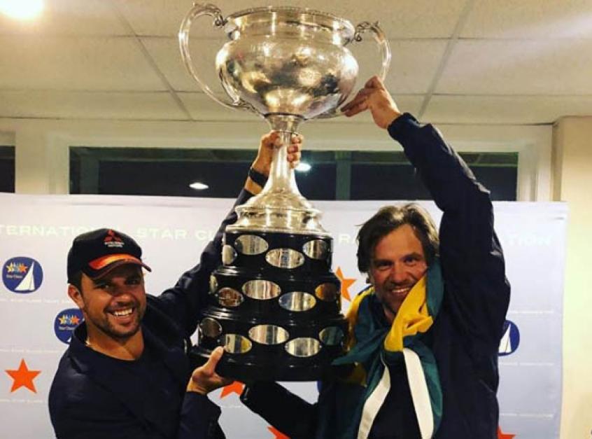 Jorge Zarif e Guilherme de Almeida comemoram o título mundial de Star (Foto: Divulgação)