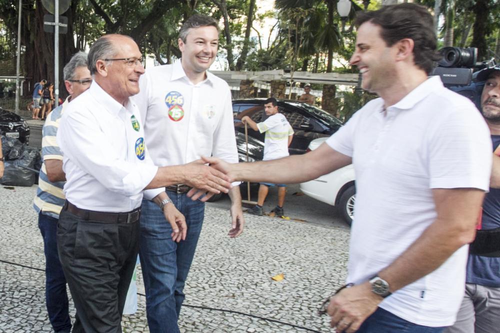 Alckmin e Bornhausen - Marco Santiago/ND